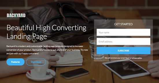Demo - High converting landing page templates