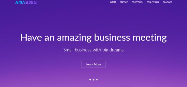 Amazing – Free Html Portfolio Landing Page Template