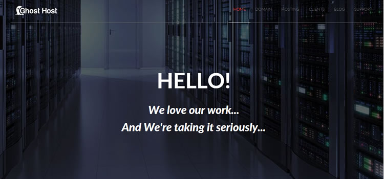 Ghost Host – Html Hosting Template