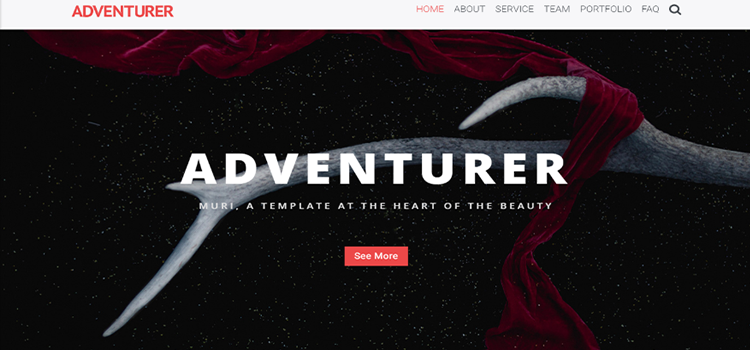 Adventurer – One Page Creative HTML5 Page Template