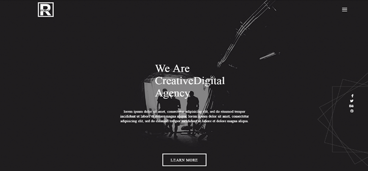 R Studio – Free Material Creative Digital Web Agency Template