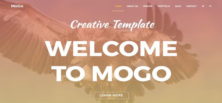 MoGo – Free One Page WordPress Portfolio Theme