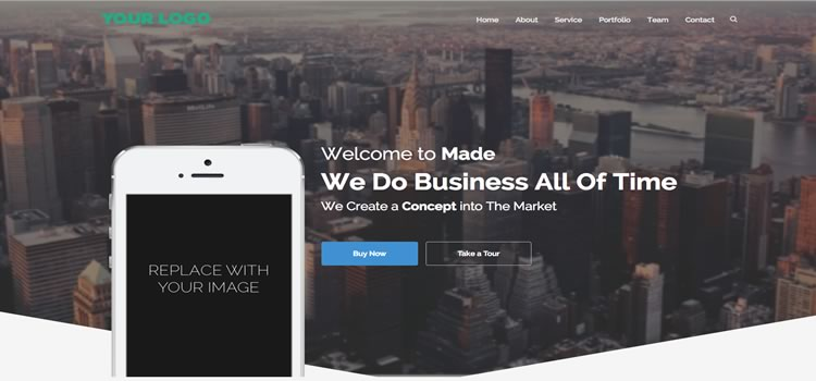 Made Apps – Landing Page Free Bootstrap Template
