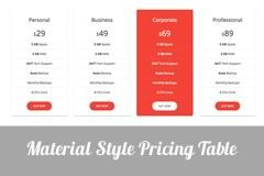 small-material-pricing-table
