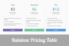 Rainbow Free Bootstrap Pricing Table