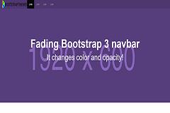 Bootstrap Transparent Navbar onScroll