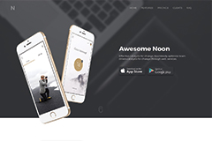 Noon UI Kit – Mobile App Html Landing Page Template