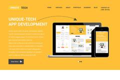 Unique Tech – One Page Html Responsive Portfolio Template