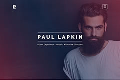 Paul Lapkin – Personal Portfolio Html Page Template
