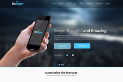 Bazinger – One Page Html Landing Page Template