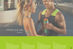 Fitness – HTML One Page Template