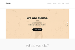 Clemo – Free HTML5 Multipurpose Portfolio Page Template
