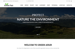 Greenfair MultiPurpose One Page WordPress Theme