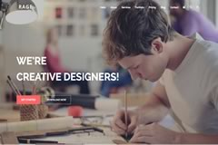 Rage – Digital Agency Free Bootstrap 4 Multipurpose Template