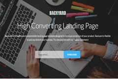 Backyard – High Converting Free Bootstrap Landing Page Template