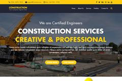 Construction – Free HTML Bootstrap Template
