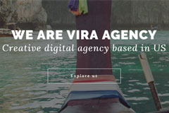 Vira – Free One Page Startup Agency Bootstrap Website Template