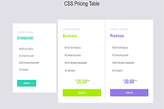Animated Bootstrap Pricing Table