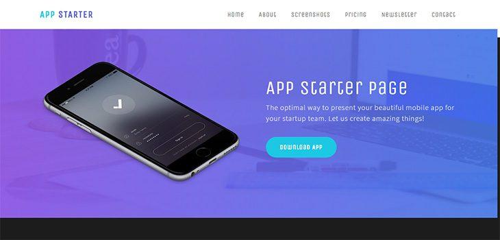 App Starter – Free responsive HTML5 Bootstrap App template