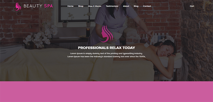 Spa Free responsive HTML5 Bootstrap template   Bootstrap Themes