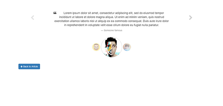 Bootstrap Testimonial Slider Example 1 | Bootstrap Themes