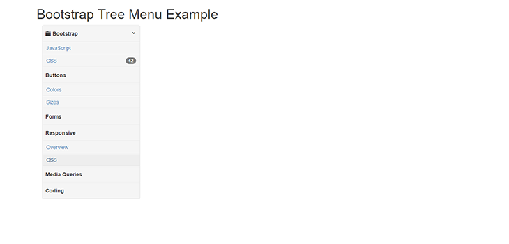 Bootstrap Tree Menu Example   Bootstrap Themes