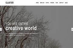 Cluster – Free Creative Portfolio Bootstrap Template