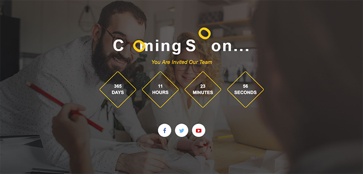 Coming Soon HTML5 Bootstrap Page