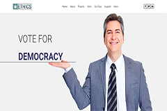 Ethics – Free Political HTML5 Bootstrap Landing Page