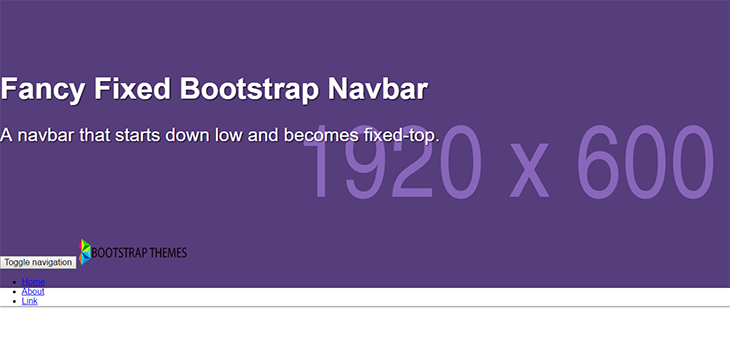 Fancy Fixed Bootstrap Navbar