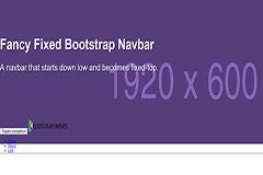 Fancy Fixed Bootstrap Navbar