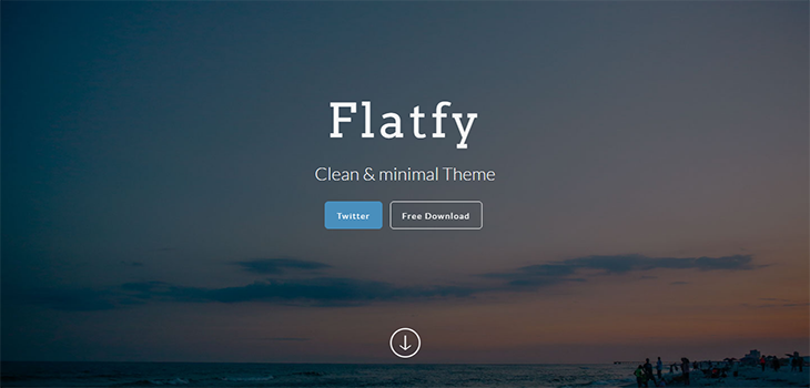 Flatfy – Flat minimal HTML Bootstrap Template