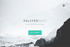 Halcyon days – Free HTML5 website Bootstrap template