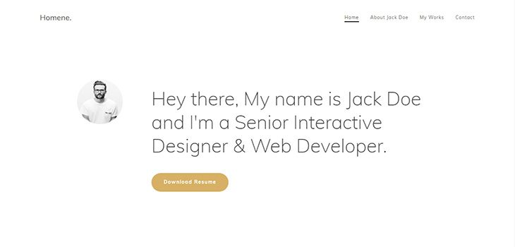 Homene HTML Bootstrap Responsive Multi-Purpose Template
