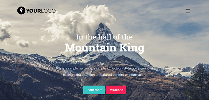 Mountain King HTML Bootstrap template
