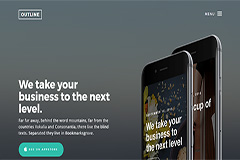 Outline – Free responsive HTML5 Bootstrap App template