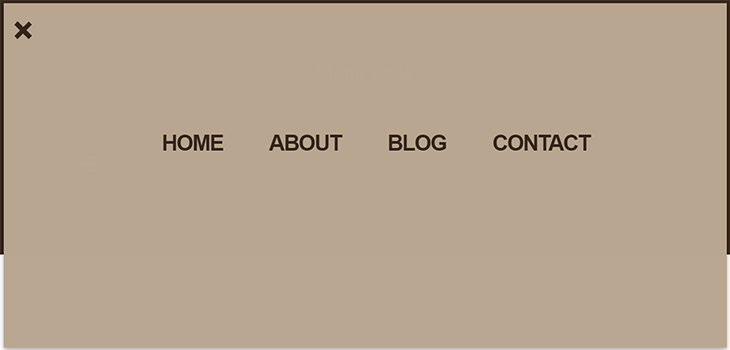 Bootstrap Responsive Menu Style