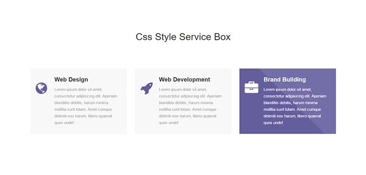 Bootstrap Service Box