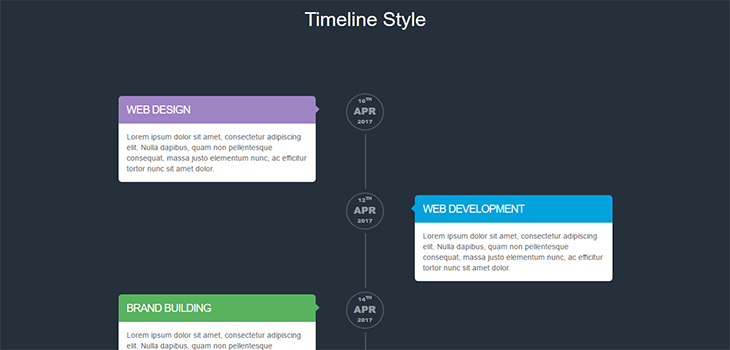 Bootstrap Responsive Time Line Style