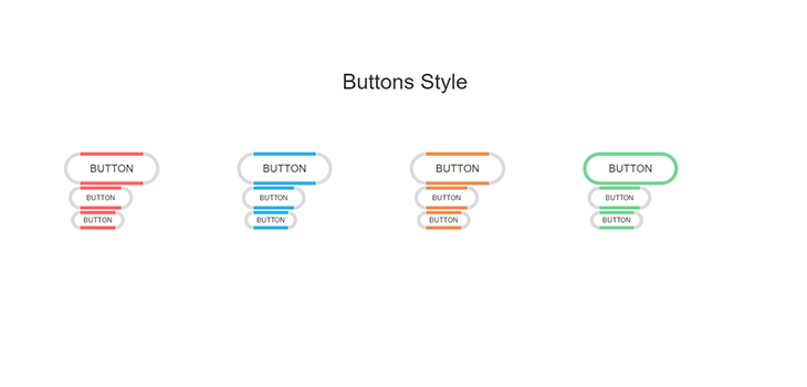 Bootstrap Responsive Hover Button Style