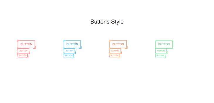 Bootstrap Responsive Hover Buttons