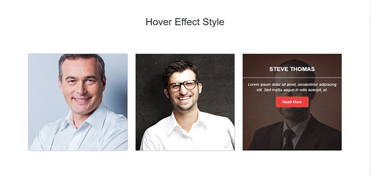 Bootstrap Hover Effect Style