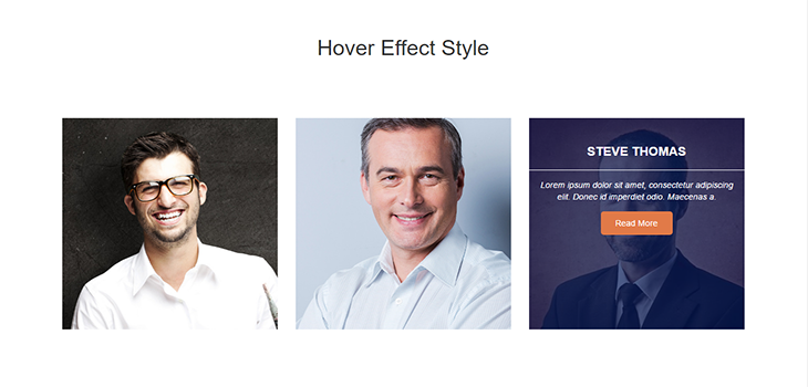 Responsive Hover Effect Style