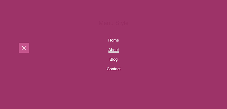 Simple Bootstrap Navigation Menu