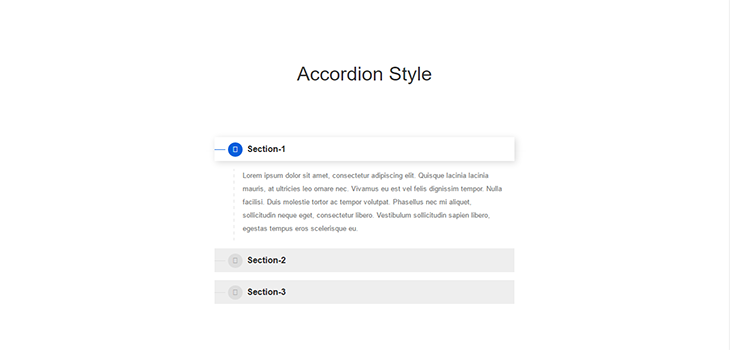 Simple Accordion Style