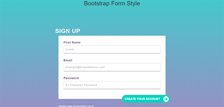 Responsive Bootstrap Form Style