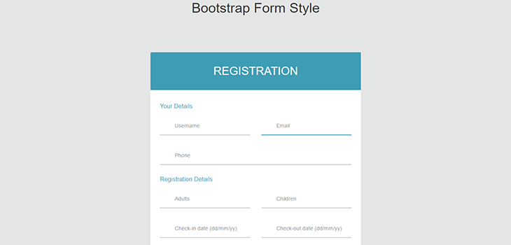 Simple Bootstrap Form Style Bootstrap Themes
