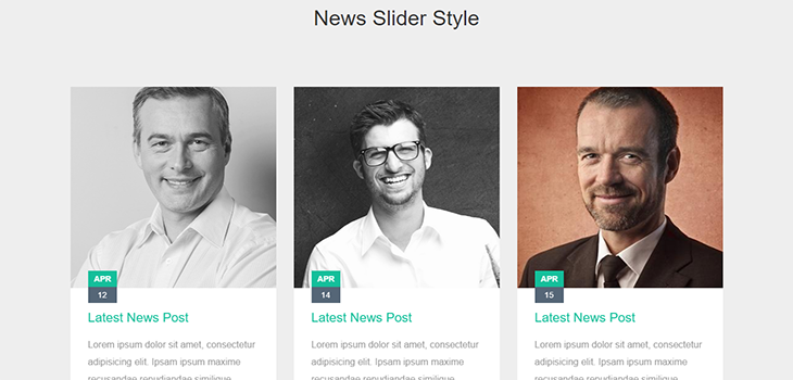 Bootstrap Responsive Post Slider