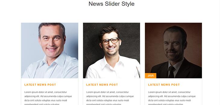 Bootstrap Responsive Post Slider