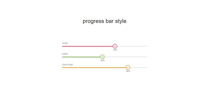 Bootstrap Progress Bar style